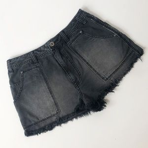 Free People High Waist Cutoff Jeans Shorts